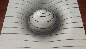 Drawing Easy 3d Sphere Drawing Easy 3d Sphere with Lines Youtube Op Art Drawings 3d