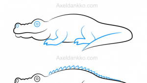 Drawing Easy Alligator How to Draw A Crocodile Comment Dessiner Un Crocodile Art How