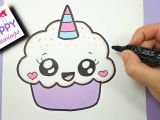 Drawing Easy Ice Cream How to Draw A Cute Cupcake Unicorn Super Easy and Kawaii Youtube