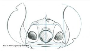 Drawing Easy Stitch How to Draw Easy Disney Characters Stitch Drawing at Getdrawings
