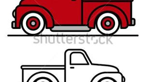 Drawing Easy Truck How to Draw A Truck Easy Two Cartoon Vintage Pick Up Truck Outline