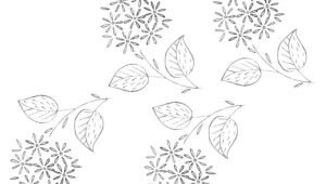 Drawing Embroidery Flowers Free Embroidery Pattern A Bunch Of Little Flowers Needle Thread