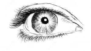 Drawing Eye Clip Art Hand Drawing Eye On A White Background Stock Illustration