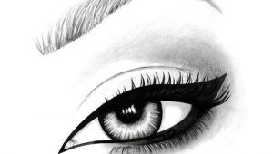 Drawing Eye Makeup On Hand Hand Drawn Illustration Of An Mac Eyeliner Using Pen Pencil and