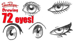 Drawing Eyes In Different Styles How to Draw 72 Eyes In Different Styles Youtube