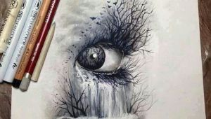 Drawing Eyes In Pastels Eye Waterfall Eyeball Obsession Drawings Art Drawings Art