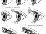 Drawing Eyes Perspective How to Draw Realistic Eyes From the Side Profile View Step by Step