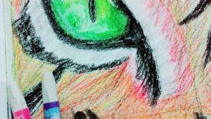 Drawing Eyes with Pastels Loin Eye Oil Pastel Drawing My Art Work Pinterest Oil Pastel