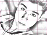 Drawing Faces On Things Drawing Justin Bieber Using A Grid Things to Draw In 2019