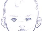 Drawing Faces On Things How to Draw A Baby S Face Head with Step by Step Drawing