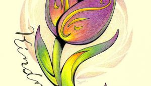 Drawing Flower for Wall Inspirational Flower Tulip Inspirational Art Flower Illustration