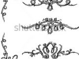 Drawing Flowers and Vines Vine Roses Set Of Thorny Rose Vines In Hand Drawn Sketch Set