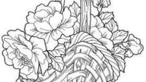 Drawing Flowers Basket Flower Basket Drawing Floweryweb Dibujos Varios Pinterest