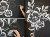 Drawing Flowers Chalk How to Create A Gorgeous Chalk Mural Like An Instagram Pro Via Brit