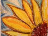 Drawing Flowers Chalk Sunflower Abstract Oil Pastel Drawing by Onny Artbyonny Art