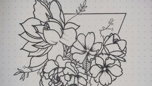 Drawing Flowers Journal Bullet Journal Monthly Cover Page Flower Drawings Jayy Tee