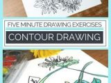 Drawing Flowers Lesson Plans Contour Drawing for Kids An Easy Exploration Elementary and