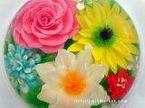 Drawing Flowers On Cake Flowers Drawn In Clear Jello Gelatin Art Dessert for some Reason