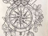 Drawing Flowers with A Compass 105 Best Clock and Compass Tattoo Images Tattoo Ideas Awesome