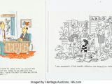 Drawing Gag Cartoons Fred Thomas Single Panel Gag Strips original Art Group Of 10 Lot