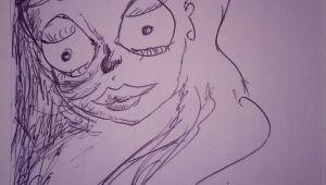 Drawing Girl 11 11 18 2015 Weird Looking Cartoon Doll Girl Sketch Drawing