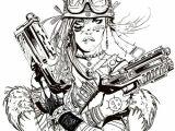 Drawing Girl Robot Tank Girl Tank Girl Tank Girl Draw Art
