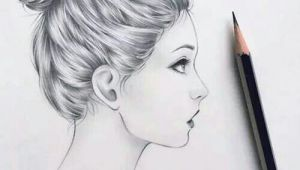 Drawing Girl Side View Image Result for Sketch Of Long Hair with Bow A No Her Drawings