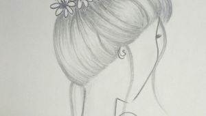Drawing Girl with Bun Draw Hair Bun Hairstyle with Flowers Draw In 2019 Drawings