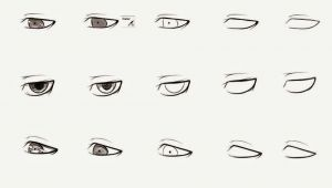 Drawing Guys Eyes How to Draw Anime Male Eyes Step by Step Learn to Draw and Paint