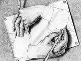 Drawing Hands 1948 Die Pajess Stehen Mir Turmsegler