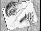 Drawing Hands Escher Analysis Art Com Drawing Hands Wood Wall Art by M C Escher White 45