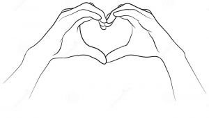 Drawing Hands Using Shapes Hands Folded together In the Shape Of A Heart Stock Vector
