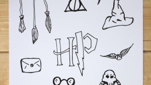 Drawing Harry Potter Things Harry Potter Clip Art Printables Graphics Harry Potter Clip