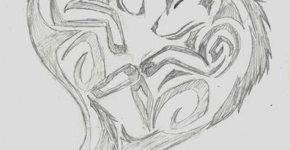 Drawing Heart Deviantart Wolf Heart Wolf Tribal Heart by Wolfhappy On Deviantart Tatoo