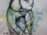 Drawing Ideas Colourful Drawing Of An Owl Working From Abby Diamonds Work Using Watercolour