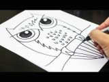 Drawing Ideas for 8 Year Olds How to Draw An Owl Youtube