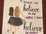 Drawing Ideas for Your Best Friend Canvas for Best Friend Quote Painting Diy My sorority Crafts