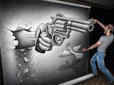 Drawing Ideas Guns 3d Gun Dimensional 3d Pencil Drawings Draw Pencil Drawings