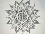 Drawing Ideas Harry Potter Harry Potter Mandala Tattoo Idea Deathly Hallows Harry Potter