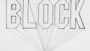 Drawing Ideas Letters One Point Perspective Block Letter How to Lettering Drawings