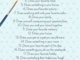 Drawing Ideas List Tumblr 30 Day Drawing Challenge 30 Day Challenges Drawing Challenge