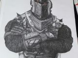 Drawing Ideas Medium Black Knight fortnite Drawing 30 X 40 Cm Art In 2019 Drawings