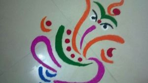 Drawing Ideas Rangoli Rangoli Designs Easy Creators Rangoli Designs Ganesh Rangoli