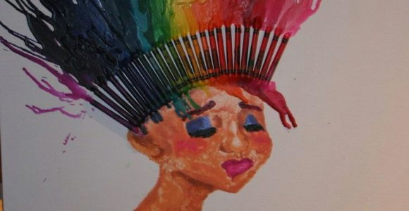 Drawing Ideas Using Crayons Crayon Melt Hair Sick Concept Maybe More Of A Headdress How