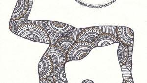 Drawing Ideas Yoga Golden Om Symbol Yoga Wall Decor Yoga asana Instant Digital