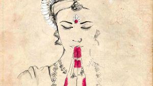 Drawing Indian Cartoon Odissi Illustration by Gungur Arts Indian Like Indian Art Art