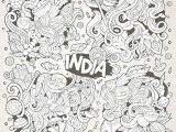Drawing Indian Cartoons Eps Illustration Doodle Cartoon Set Of Indian Designs Vector