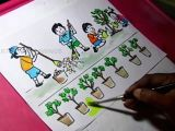 Drawing Indian Cartoons How to Draw Clean India Green India Drawing for Kids Youtube