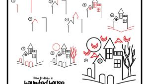 Drawing Kids Hub How to Draw A Haunted House Google Search Halloween Drawings