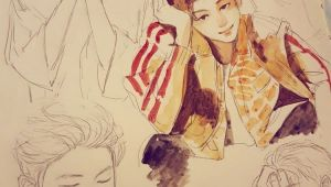 Drawing Kpop Girl Pin by Catfox On Bts Bts Drawings Art Kpop Fanart